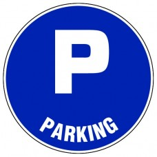 """ПВЦ Знак  """"Място за паркиране"""", ф 200 мм"""