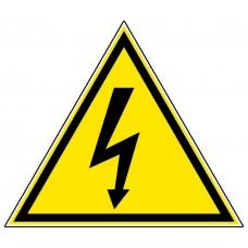 """Стикер """" Внимание - опасност от токов удар""""  - триъгълен"""