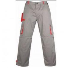 Работен панталон СИВ/ ЧЕРВЕН