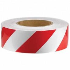Светлоотразителна лента 50 мм х 48 м, червено/бяла