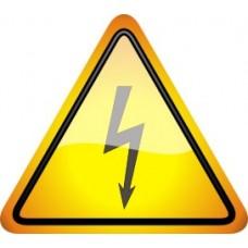 """ПВЦ знак """"Внимание опасност от токов удар """", височина- 200 мм"""