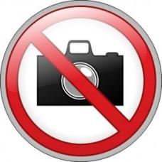 """ПВЦ знак """"Забранено заснемането"""", ф 200 мм"""