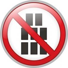 """ПВЦ знак """"Забранено стифирането и складирането"""", ф 200 мм"""
